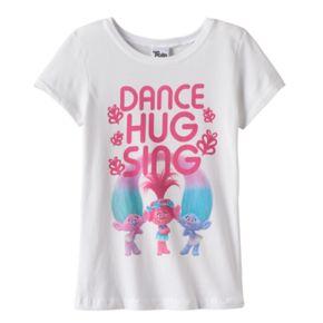 "Girls 7-16 DreamWorks Trolls Poppy, Satin & Chenille ""Dance Hug Sing"" Graphic Tee"