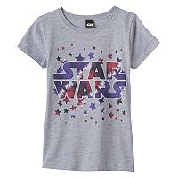 Girls 7-16 Star Wars Logo Stars Graphic Tee