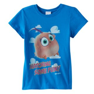 "Girls 7-16 Angry Birds Movie Hatchlings ""Hatching Some Fun!"" Graphic Tee"