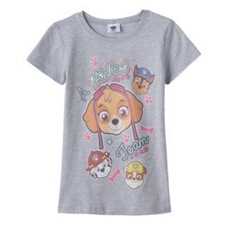 "Girls 7-16 Paw Patrol Skye, Chase, Marshall & Rubble ""A Pawfect Team"" Graphic Tee"