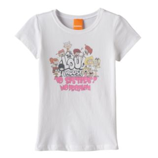 "Girls 7-16 The Loud House ""10 Sisters? No Problem"" Graphic Tee"