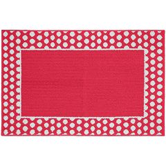 Garland Rug Polka Dot Framed Rug