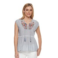 Women's SONOMA Goods for Life™ Embroidered Peplum Top