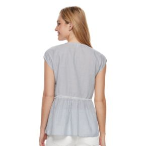 Women's SONOMA Goods for Life? Embroidered Peplum Top