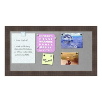 Amanti Art Whiskey Brown Rustic Finish Magnetic Bulletin Wall Decor