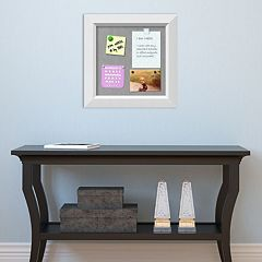Amanti Art Square White Magnetic Bulletin Board Wall Decor
