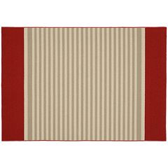 Garland Rug Sideline Striped Rug - 5' x 7'6''