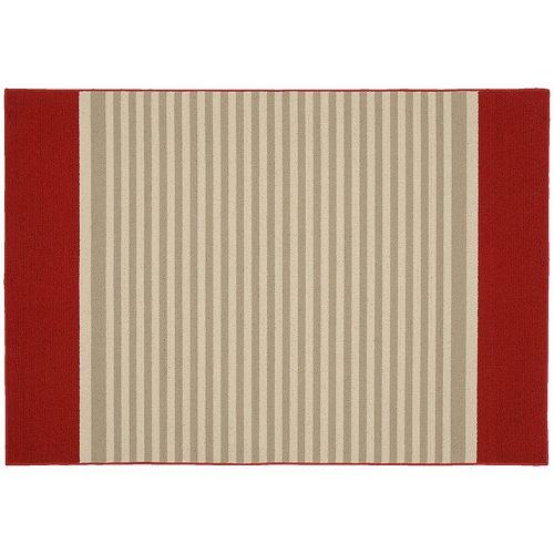 Garland Rug Sideline Striped Rug - 5' x 7'6''