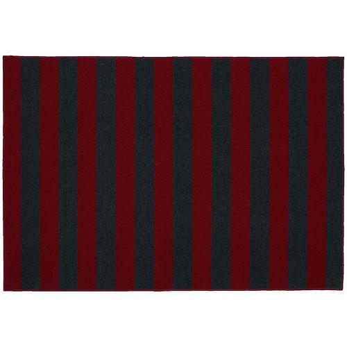 Garland Rug Rugby Striped Rug - 5' x 7'6''