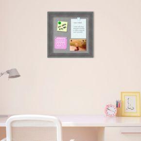 Amanti Art Square Rustic Gray Magnetic Bulletin Board Wall Decor