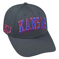 Adult Top of the World Kansas Jayhawks Cool & Dry One-Fit Cap
