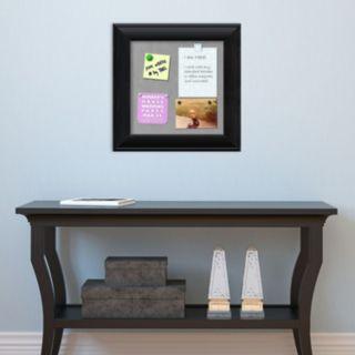 Amanti Art Small Black Finish Magnetic Bulletin Wall Decor