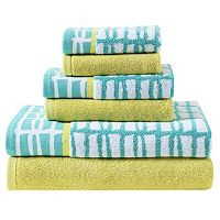 Clairebella 6 pc Cubish Bath Towel Set