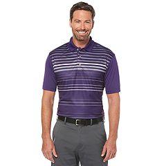 Men's Grand Slam Slim-Fit Motionflow 360 Striped Performance Golf Polo