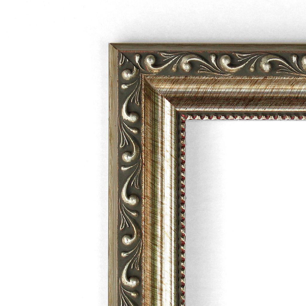 Amanti Art Square Parisian Silver Finish Framed Magnetic Bulletin Wall Decor