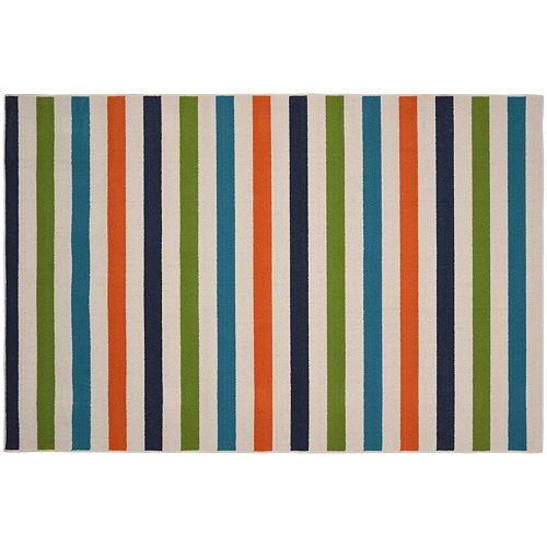 Garland Rug Summer Stripe Rug - 5' x 7'6''