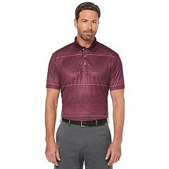 Men's Grand Slam Classic-Fit Striped Heathered Motionflow Performance Polo
