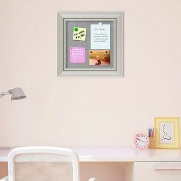 Amanti Art Romano Silver Finish Small Framed Magnetic Board
