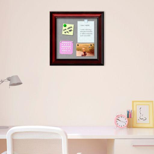 Amanti Art Rubino Scoop Square Framed Magnetic Board Wall Decor