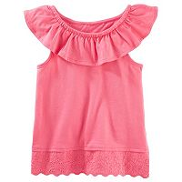 Girls 4-8 Carter's Eyelet-Hem Tank Top