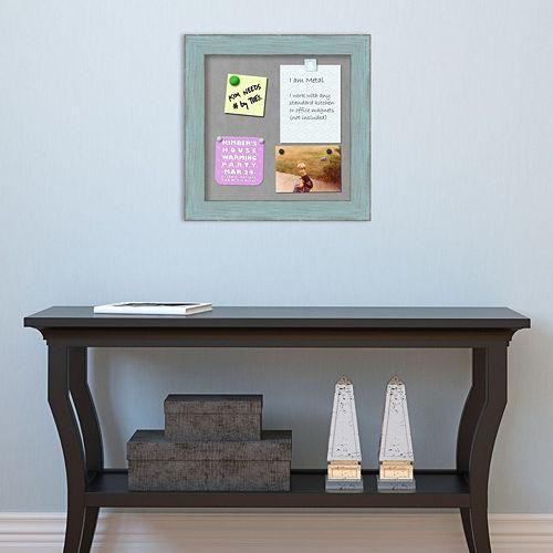 Amanti Art Blue Framed Square Magnetic Bulletin Board Wall Decor