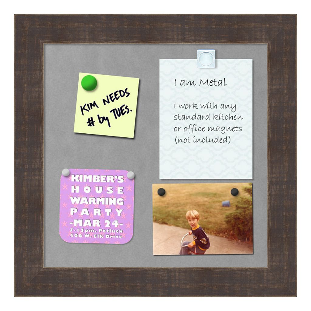 Amanti Art Rustic Brown Square Magnetic Bulletin Board Wall Decor