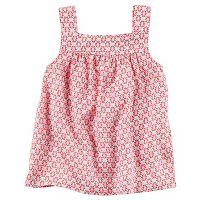 Girls 4-8 Carter's Print Shirred Tank Top