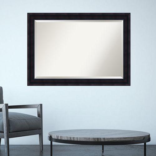 Amanti Art Annatto Mahogany Finish Framed Wall Mirror