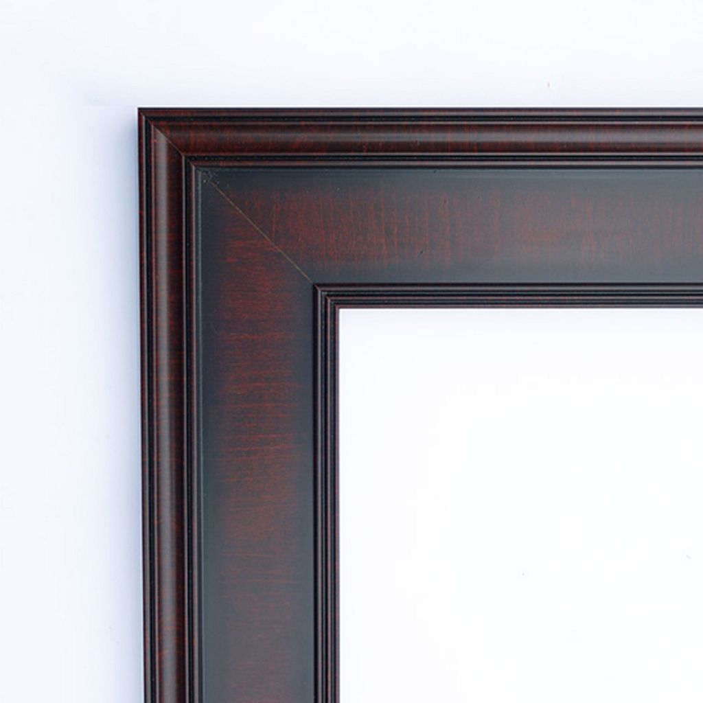 Amanti Art Annatto Mahogany Finish Framed Wall Mirror