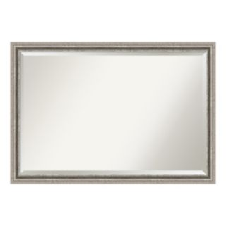 Amanti Art Silver Pewter Finish Wall Mirror