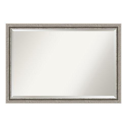 Amanti Art Silver Pewter Finish Wall Mirror
