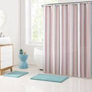 Clairebella 15 pc Cabana Stripe Bathroom Set