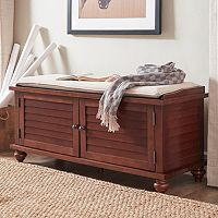 HomeVance Kiely Storage Bench & Cushion 2 pc Set