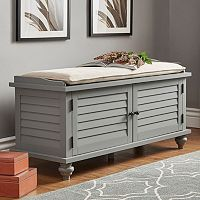 HomeVance Kiely Storage Bench & Cushion 2-piece Set