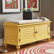 HomeVance Kiely Storage Bench & Cushion 2-piece Set