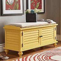 HomeVance Kiely Storage Bench & Cushion 2-piece Set Deals