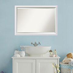 Amanti Art Blanco White Framed Wall Mirror