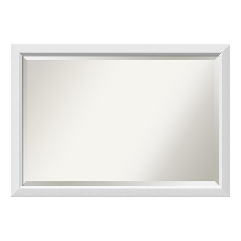 Amanti Art Blanco White Framed Wall Mirror