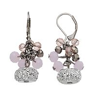 Simply Vera Vera Wang Nickel Free Pink Beaded Cluster Drop Earrings