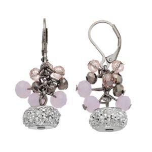 Simply Vera Vera Wang Nickel Free Pink Beaded Cluster Drop Earrings