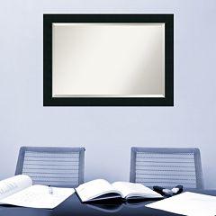 Amanti Art Corvino Black Framed Wall Mirror