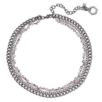 Simply Vera Vera Wang Pink Beaded Multi Strand Choker Necklace