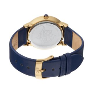 burgi Women's Lotus Flower Crystal Leather Watch
