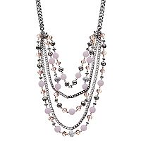 Simply Vera Vera Wang Pink Beaded Swag Necklace