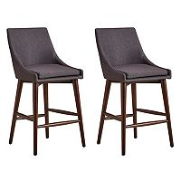 HomeVance Mid-Century Counter Stool 2-piece Set
