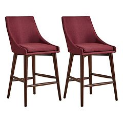 HomeVance Mid-Century Counter Stool 2 pc Set