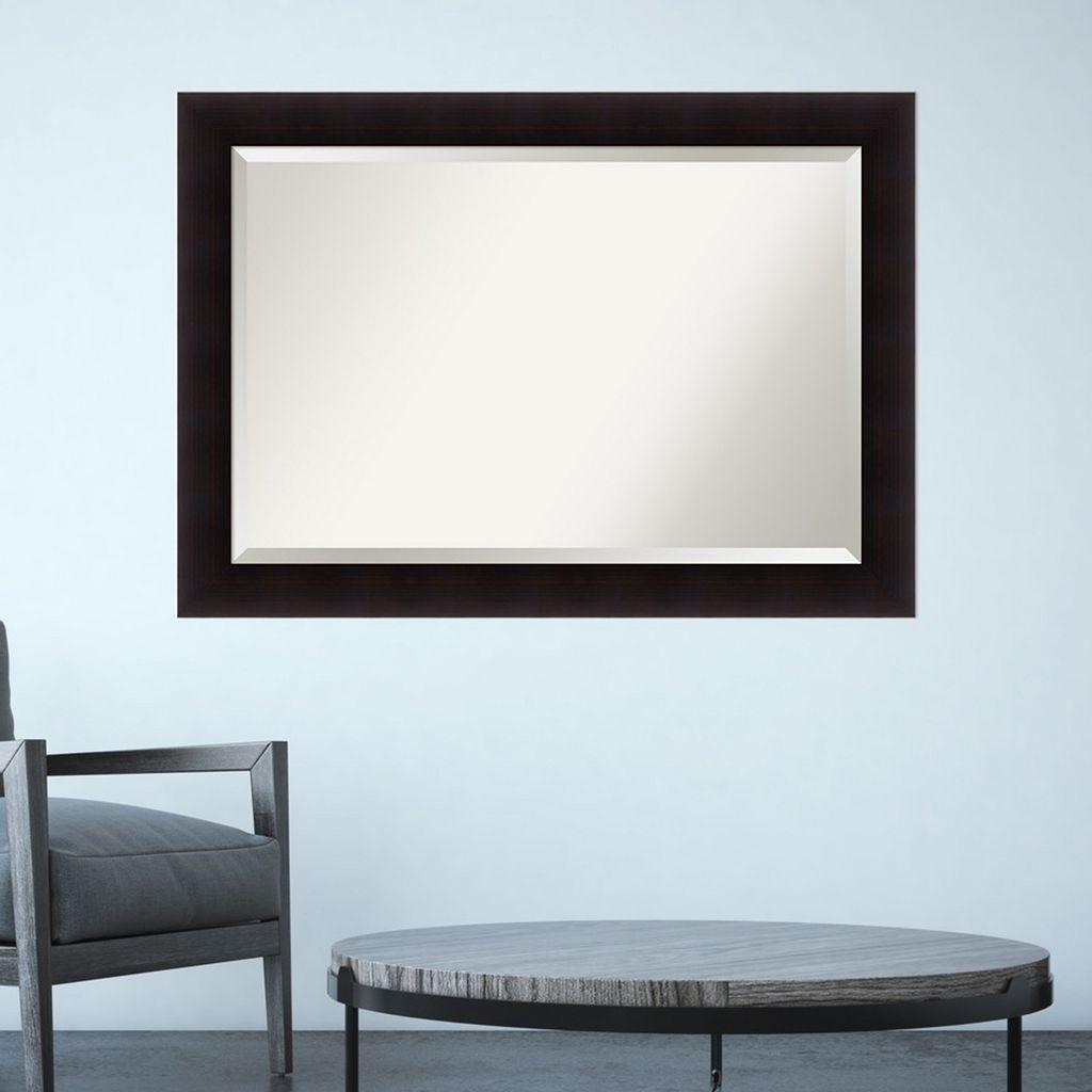 Amanti Art Espresso Finish Wall Mirror
