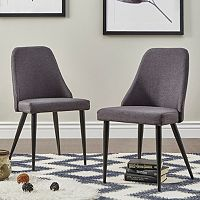 HomeVance Royce Mid-Century Dining Chair 2-piece Set