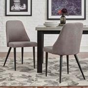 HomeVance Royce Mid-Century Dining Chair 2 pc Set