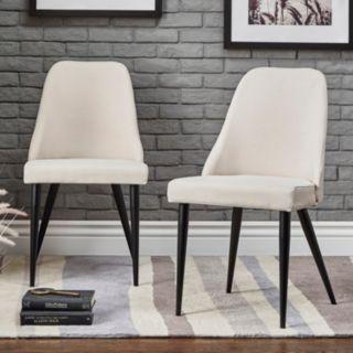 HomeVance Royce Mid-Century Dining Chair 2-piece Set